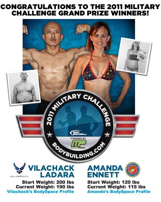 2011 Military Challenge Grand Prize Winners Vilachack Ladara & Amanda Ennett!