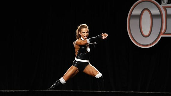 Adela Garcia won the last five Fitness Olympiads. Here she performs at the 2010 event.