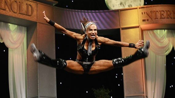Garcia didn't do gymnastics or dance growing up; clearly she has been practicing.
