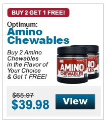 Buy 2 Amino Chewables in the Flavor of Your Choice & Get 1 FREE!