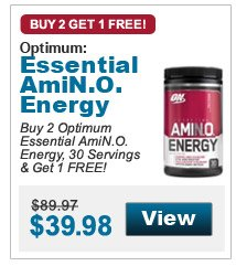 Buy 2 Optimum Essential AmiN.O. Energy, 30 Servings & Get 1 FREE!