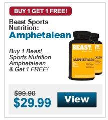 Buy 1 Beast Sports Nutrition Amphetalean & Get 1 FREE!