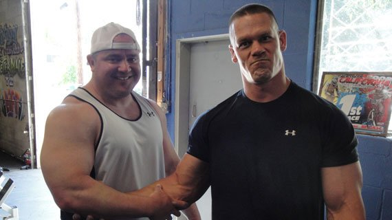 Real men like Bell and John Cena don't shake hands; they shake forearms.