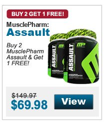 Buy 2  MusclePharm Assault & Get 1 FREE!