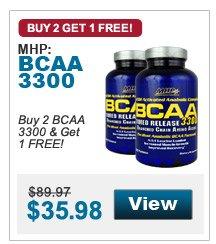Buy 2 BCAA 3300 & Get 1 FREE!