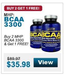Buy 2 MHP  BCAA 3300 & Get 1 FREE!