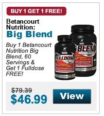 Buy 1 Betancourt Nutrition Big Blend, 60 Servings & Get 1 Fulldose FREE!