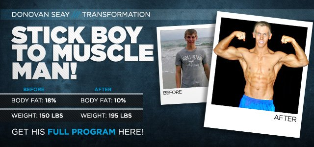 Body Transformation: Donovan Went From Stick Boy To Muscle Man