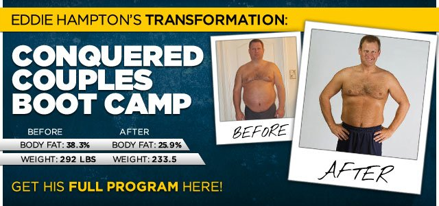 Body Transformation: Eddie Conquered Couples' Boot Camp