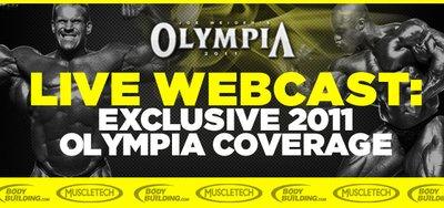 Bodybuilding.com Announces Exclusive 2011 Olympia Webcast banner