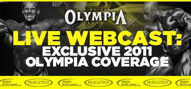 Bodybuilding.com Announces Exclusive 2011 Olympia Webcast!