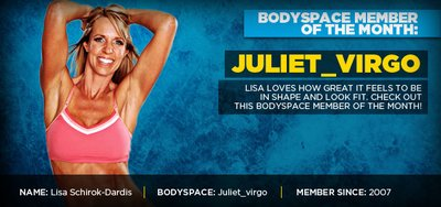 BodySpace Member Of The Month - Juliet_Virgo! banner