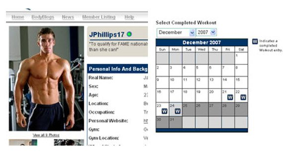 Bodyspace Provides You With a Workout Calendar and an Easy Way to Upload Photos.