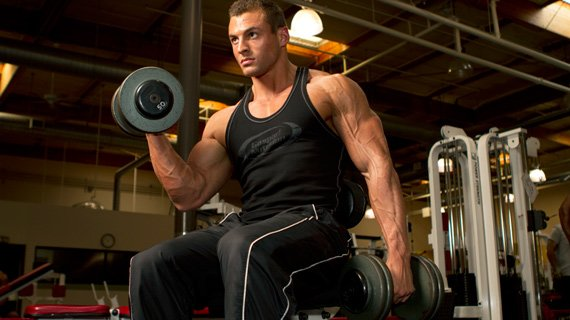 Remember, the total poundage lifted in this workout isn't as important as the sheer intensity