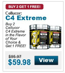 Buy 2  Cellucor C4 Extreme in the Flavor of Your Choice & Get 1 FREE!