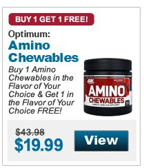 Buy 1 Amino Chewables in the Flavor of Your Choice & Get 1 in the Flavor of Your Choice FREE!