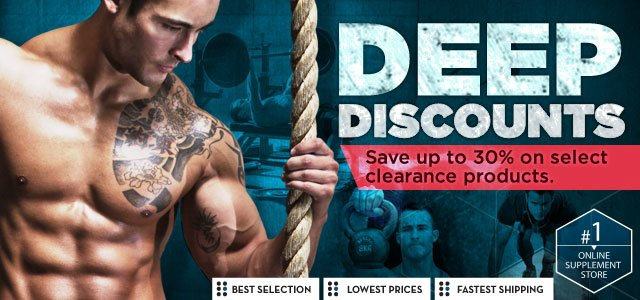 Deep Discounts - Save up to 30% on select clearance products.