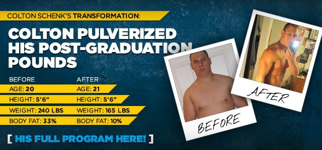 Colton Pulverized His Post-Graduation Pounds