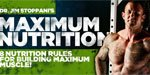 Dr. Jim Stoppani's 8 Nutrition Rules For Building Maximum Muscle!