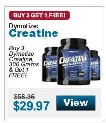 Buy 3  Dymatize Creatine, 300 Grams & Get 1 FREE!