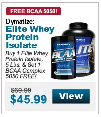 Buy 1 Elite Whey Protein Isolate, 5 Lbs. & Get 1 BCAA Complex 5050 FREE!