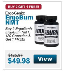 Buy 2 ErgoGenix ErgoBurn NMT, 120 Capsules & Get 1 FREE!