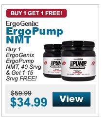 Buy 1  ErgoGenix ErgoPump NMT, 40 Srvg & Get 1 15 Srvg FREE!