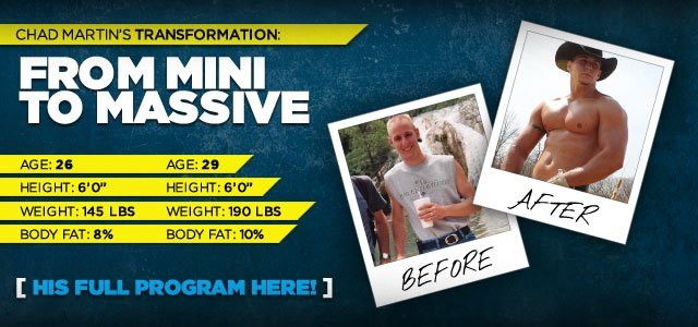 From Mini To Massive: Chad Martin's Mighty Transformation