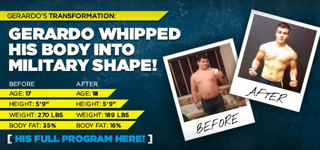 Gerardo Whipped His Body Into Military Shape!