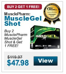 Buy 2  MusclePharm MuscleGel Shot & Get 1 FREE!