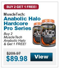 Buy 2 MuscleTech Anabolic Halo & Get 1 FREE!