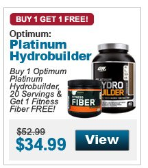 Buy 1 Optimum  Platinum Hydrobuilder, 20 Servings & Get 1 Fitness Fiber FREE!