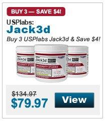 Buy 3 USPlabs Jack3d & Save $4!