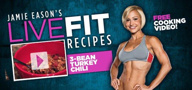 Jamie Eason's LiveFit Recipes: 3-Bean Turkey Chili