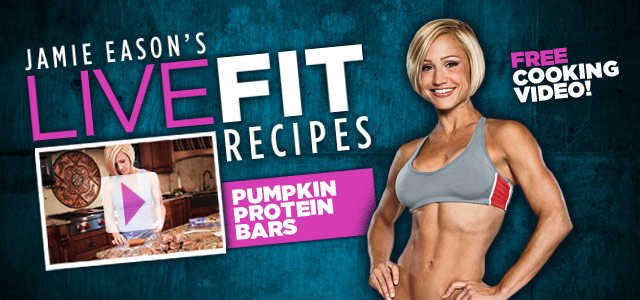 Jamie Eason's LiveFit Recipes: Pumpkin Protein Bars