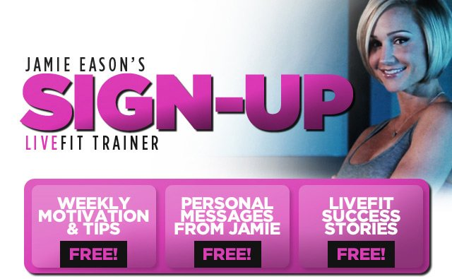 Jamie Eason's LiveFit Trainer Email Sign Up