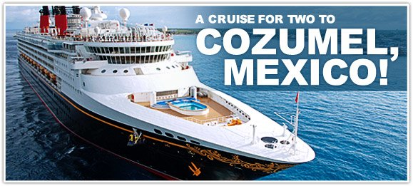 A 4-day Cruise for two to Cozumel, Mexico!