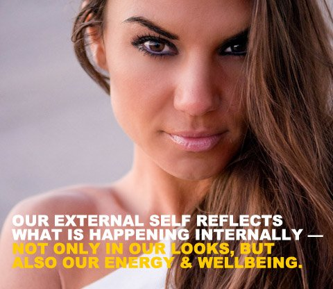 Our external self reflects what is happening internally - not only in our looks, but also our energy and wellbeing.