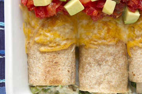 Chicken Enchiladas with Homemade Chicken Stock