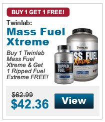Buy 1 Twinlab Mass Fuel Xtreme & Get 1 Ripped Fuel Extreme FREE!