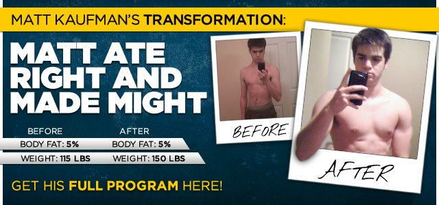 Matt Packed On 35 Pounds And Changed His Body And Mindset!