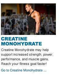 Creatine Monohydrate may help  support increased strength, power, performance, and muscle gains. Reach your fitness goal faster!