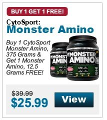 Buy 1 CytoSport  Monster Amino, 375 Grams & Get 1 Monster Amino, 12.5 Grams FREE!