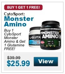 Buy 1 CytoSport Monster Amino & Get 1 Glutamine FREE!