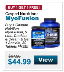 Buy 1Gaspari Nutrition MyoFusion, 5 Lbs., Cookies & Cream & Get 1 Anavite, 30 Tablets FREE!