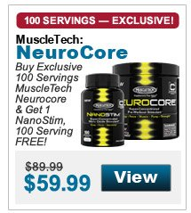 Buy Exclusive  100 Servings MuscleTech Neurocore & Get 1 NanoStim, 100 Serving FREE!