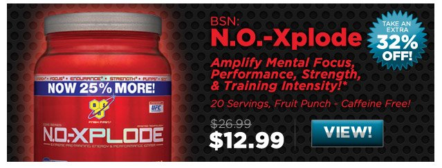 BSN: N.O.-Xplode - 20 Servings, Fruit Punch - Caffeine Free!
