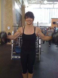 Check out Momma Nadine's muscles!