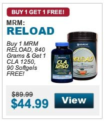 Buy 1 MRM RELOAD, 840 Grams & Get 1 CLA 1250, 90 Softgels FREE!
