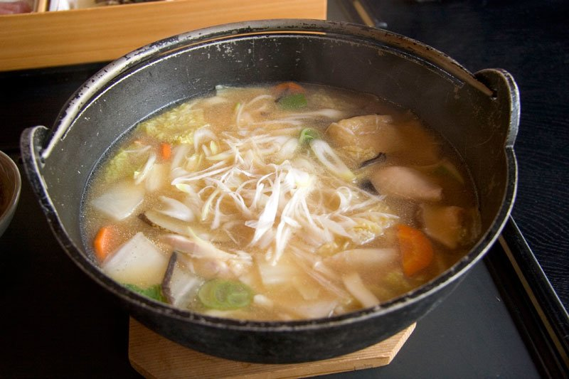 Oodles of noodles! Slurp this soup, whole kit and kaboodle.